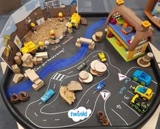 Explore the construction industry with this building site tuff tray activity using Twinkl resources. Eyfs Activities, Nursery Activities, Preschool Activities, Construction Eyfs, Construction Theme Preschool, Tuff Tray Ideas Toddlers, Positive Quotes For Life Encouragement, People Who Help Us, Eyfs Classroom
