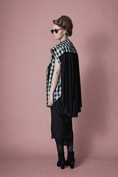 Mari's Shirt- black check Feminine Style, Female Bodies, Blouse, Check, Shirts, Beautiful, Collection, Tops, Women