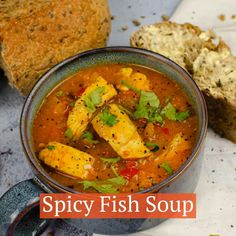 Perfectly fragrant Spicy Fish Soup, plenty of spices added for optimum health benefits. Great as a healthy starter, lunch or even a main meal! Under 300 calories a serving and very low in saturated fats. Fish Chowder, Fish Soup, Healthy Starters, Cooking Tomatoes, Under 300 Calories, Midweek Meals, Cooking Recipes, Healthy Recipes, Pickling Spices
