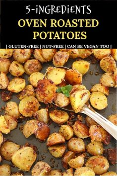 Oven Roasted Potatoes, Crispy Oven-Roasted Potatoes Oven roasted potatoes made with just five basic ingredients is a super healthy, & utterly delicious recipe! A perfect accompaniment to almost any dish. Gold Potato Recipes, Roasted Potato Recipes, Veggie Recipes, Vegetarian Recipes, Cooking Recipes, Healthy Recipes, Oven Roasted Red Potatoes, Parsley Potatoes, Recipes With Potatoes