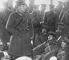 From Wikiwand: 1st Lt. Niu Yoshitada and his rebel troops in the February 26th Incident of 1936.