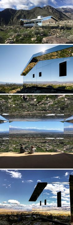 Mirage: A Suburban American House Retrofitted with Mirrors Reflects the Mountainous California Desert..
