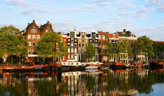 "Amsterdam, capital of the Netherlands, has been called the ""Venice of the North"" for its more than one hundred kilometres of canals, about 90 islands and 1,500 bridges. Description from ladypirate.org. I searched for this on bing.com/images"