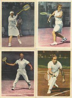 From the series Dutch sport success cards - Lawntennis - Kea Bouman, Mej. Rollin Couquerque, Henk Timmer and A. c. van Swol.
