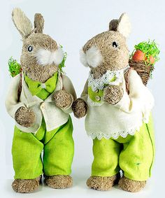 Mr. and Mrs. Bunny Statue - Set of Two #zulily #zulilyfinds