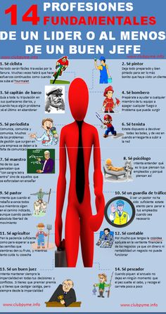 14 profesiones de un gran jefe #infografia #infographic #rrhh