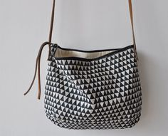 triangle day bag - lovely with all black or all white outfit?