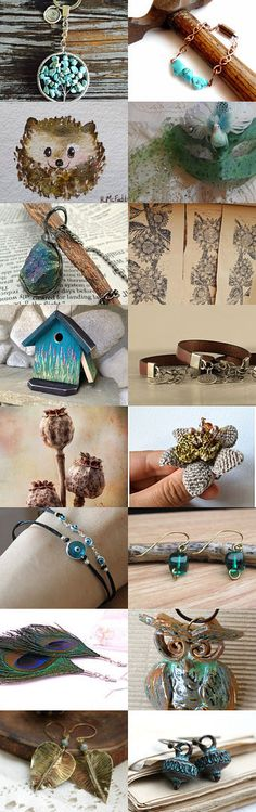 Rustic Turquoise ~ Brown and Turquoise Gifts! by Kathy Carroll on Etsy--Pinned with TreasuryPin.com #Estyhandmade #giftideas #springgifts