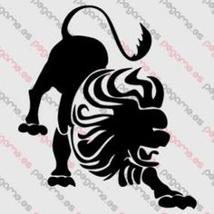 Pegame.es Online Decals Shop  #animal #lion #horoscope #zodiacal #leo #vinyl #sticker #pegatina #vinilo #stencil #decal