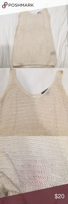 Cream knit tank tunic Cream knit tank tunic. Great coverup or over a tank Tops Tank Tops