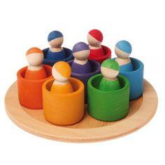 Grimm's gekleurde poppetjes