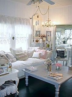 Cozy living room - I could go with this but not sure about the hubby!
