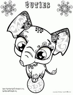 Creative Cuties Elephant Coloring Page