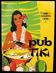 1950's -60's dinner menu, front cover  dinner menu from Pub Tiki - Philadelphia, PA
