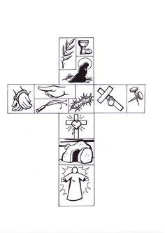 Krus to Pasku Bible Story Crafts, Bible School Crafts, Preschool Bible, Bible Activities, Sunday School Crafts, Easter Activities, Bible Stories, Catholic Kids, Kids Church