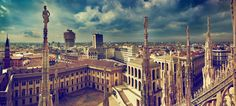 Milano, vista dalle terrazze del Duomo.