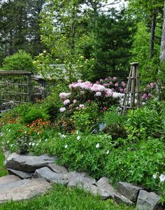 Three Dogs in a Garden: The Garden of Duff and Donna Evers, Part 2: The Upper Terrace and Lakefront
