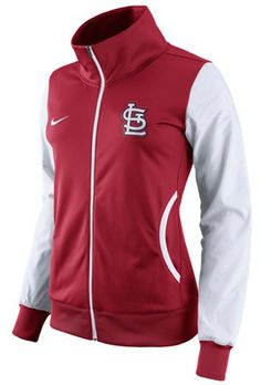 Nike Women s St. Louis Cardinals Full-Zip Track Jacket Ropa Deportiva d0564926b5fad