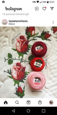 Cross Stitch Rose, Cross Stitch Flowers, Dmc Embroidery Floss, Soutache Jewelry, Crossstitch, Coasters, Colour, Embroidery Thread, Embroidered Towels