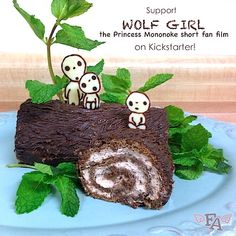 "Food Adventures (in fiction!): Kodama Log Cake for ""Princess Mononoke"" & ""Wolf Girl"""