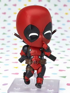 Deadpool is finally joining the Nendoroids! From 'Deadpool' comes a Nendoroid of Deadpool himself! His outfit has been shrunk down into a cute Nendoroid figure which comes with a variety of different expression patterns which can changed by sw. Marvel Dc Comics, Marvel Heroes, Marvel Avengers, Tottori, Cute Deadpool, Dead Pool, Anime Figurines, Good Smile, Bobble Head