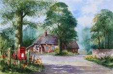 Cottage and postbox