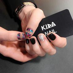 Cute nail art idea for short nails love these! | ideas de unas