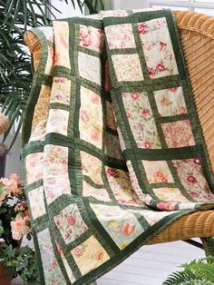 Quilting - Flower Beds This is really a pretty pattern, it would be lovely in spring colors really bright