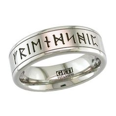 Custom Rune Wedding Ring in Titanium Richard MY Beloved