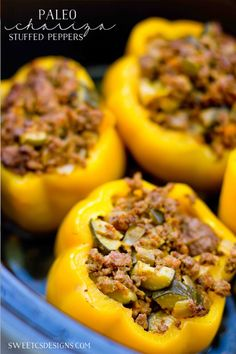 Paleo Chorizo Stuffed Peppers- these are so delicious and easy to make!