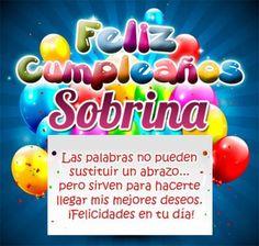 felicitar a una sobrina por su cumpleaños globos