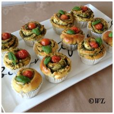 Not so long ago, I received a tip from 24 Kitchen from a neighbor. If she had time, she wanted to do Tapas, High Tea, Mini Cupcakes, Side Dishes, Vegetarian Recipes, Brunch, Appetizers, Yummy Food, Homemade