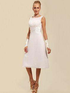 $146.99 - Modest Tea Length Short Little White Dress