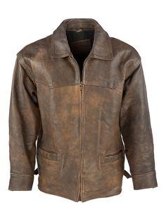 Camel Vintage Aviator Jacket - L at Retropolis Apparel Co.