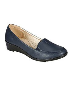 Navy Dido Wedge by Westwood Footwear #zulily #zulilyfinds