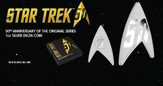 http://www.thefederationtimes.com/the-perth-mints-collectible-star-trek-delta-logo-proof-silver-coin/  To commemorate Star Trek's 50th Anniversary this year, the Perth Mint (in Australia) has struck the world's first-ever delta-shaped silver coin. It's not t