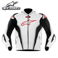 Alpinestars GP Tech Air Leather Jacket White/Black/Red