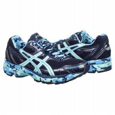Pace yourself in the GEL-Enhance Ultra running shoes by Asics. The new blue splatter design is sure to turn heads. #famousfootwear