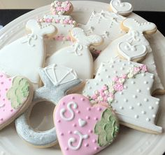 Decorated Wedding Themed Cookies Cakes dresses by peapodscookies, $48.00