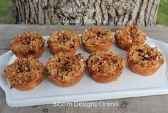 Mini Caramel Pecan Apple Pies, baked in a muffin tin