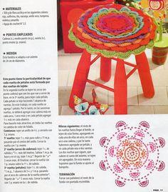 Se encontró en Google desde pinterest.com Manta Crochet, Crochet Necklace, Chair, Google, Shape, Rosettes, Turquoise, Cute Stuff, Cases