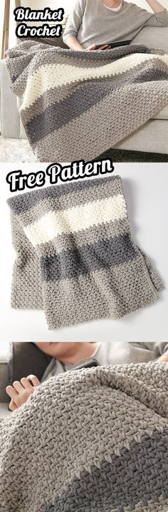 See how to make a Crochet Blanket with Free Pattern and Tutorial