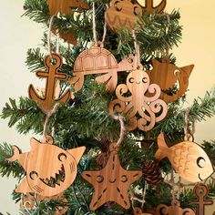 Sea Creature Ornaments #Sea #Ornaments #Christmas