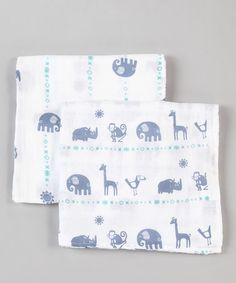 Take a look at this Blue Zoo Organic Swaddling Blankets Set by Bambino Land on #zulily today!