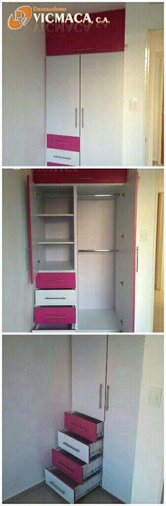 Este #closet #decovicmaca es perfecto las niñas en Blanco Mate y Fucsia.