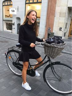 Happiness is riding a bike.                                                                                                                                                                                 More