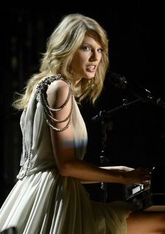 Taylor Swift performs on the 56th Annual GRAMMY Awards on Jan. 26 in Los Angeles