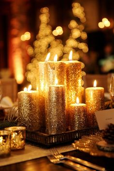 A luxurious après ski wedding with a warm holiday glow ...♥♥... Logan Walker Photography: http://www.loganwalkerphoto.com