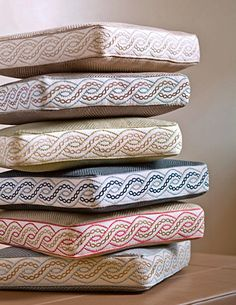 Cushions with Trim as Boxing