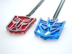 Sale 20   Transformers Necklaces  Optimus Prime by LaserCutJewelry, $23.95